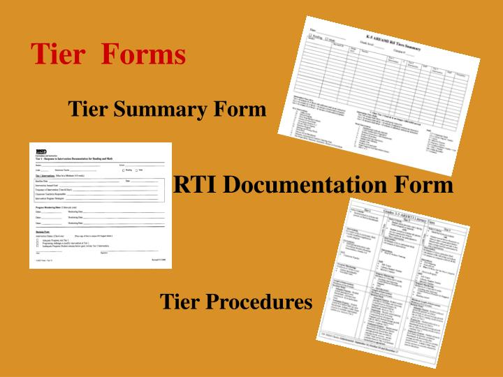 Tier  Forms