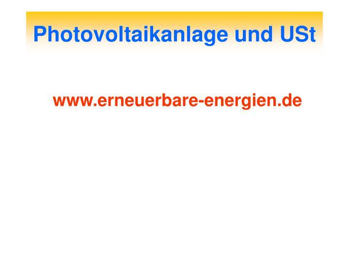 Photovoltaikanlage und USt