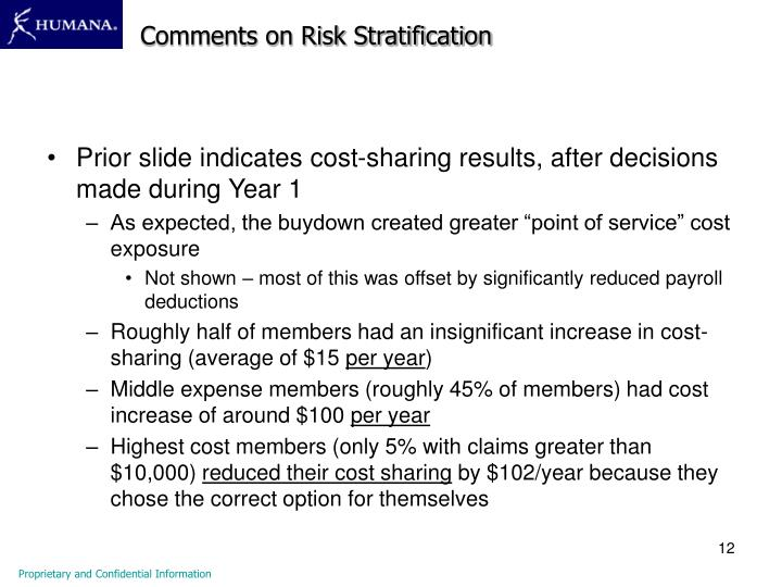 Comments on Risk Stratification