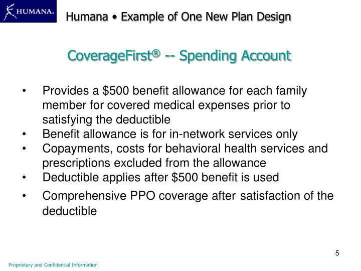 Humana • Example of One New Plan Design