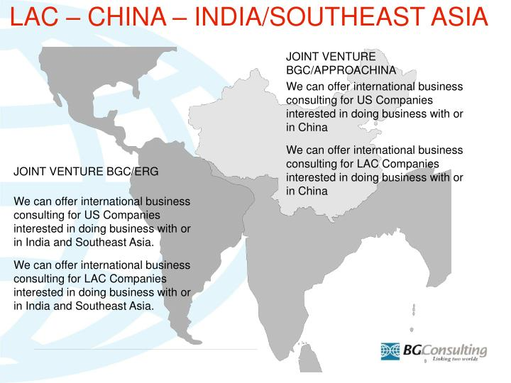 LAC – CHINA – INDIA/SOUTHEAST ASIA