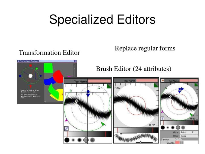 Specialized Editors