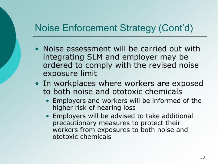 Noise Enforcement Strategy (Cont'd)