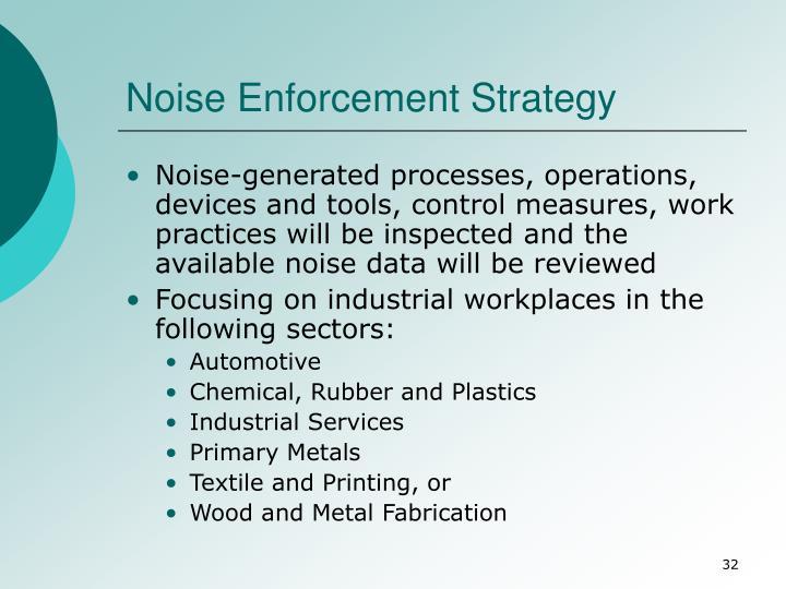 Noise Enforcement Strategy
