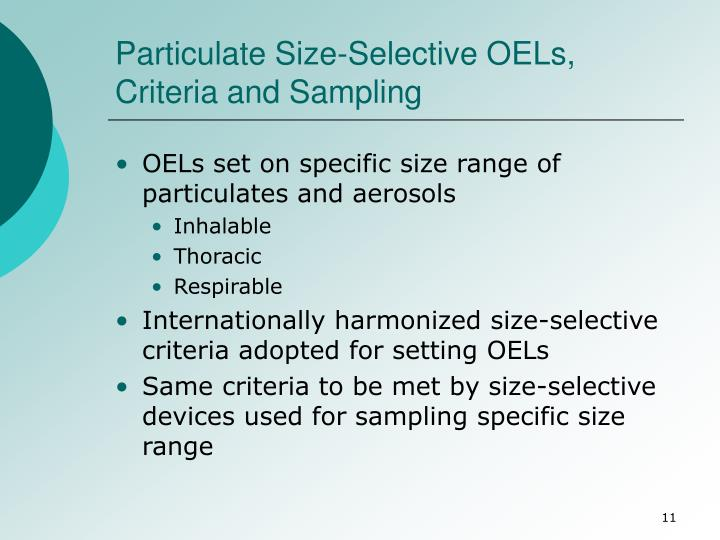 Particulate Size-Selective OELs, Criteria and Sampling