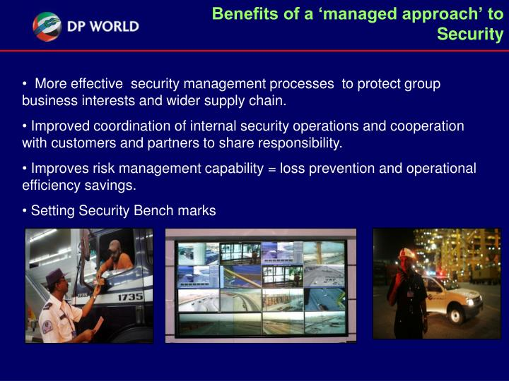 Benefits of a 'managed approach' to Security