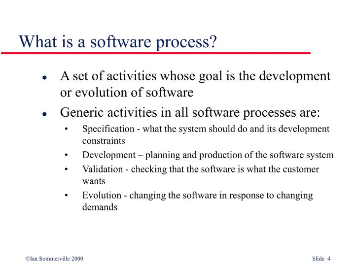 What is a software process?