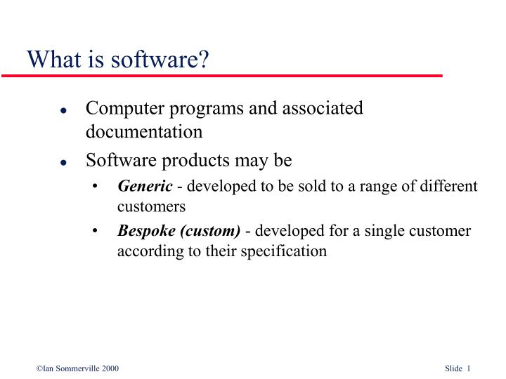 what is software
