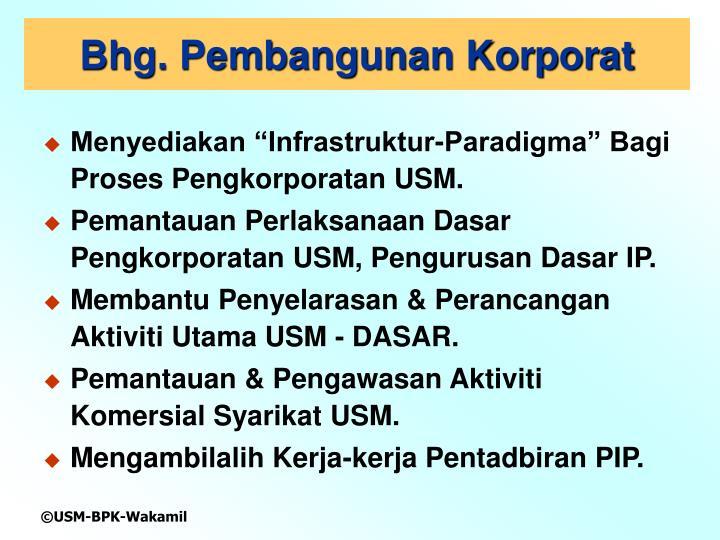 Bhg. Pembangunan Korporat
