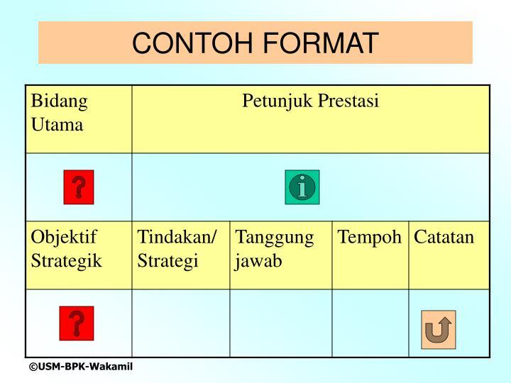 CONTOH FORMAT