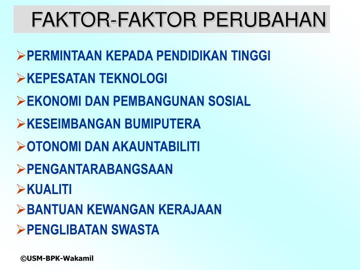 FAKTOR-FAKTOR PERUBAHAN