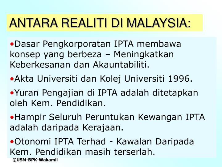ANTARA REALITI DI MALAYSIA: