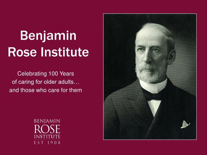 Benjamin rose institute