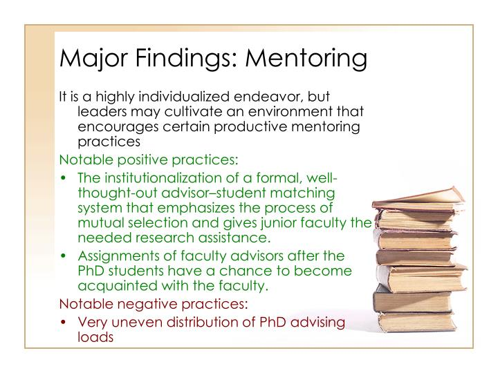 Major Findings: Mentoring