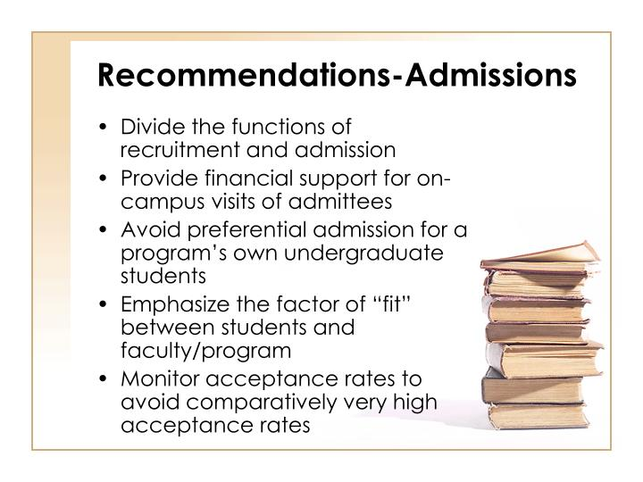 Recommendations-Admissions