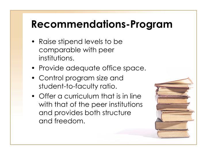 Recommendations-Program