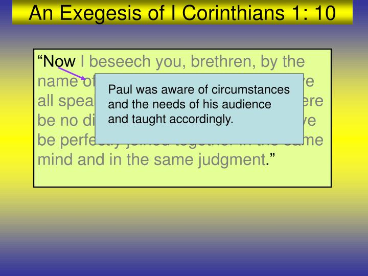 Paul was aware of circumstances and the needs of his audience and taught accordingly.