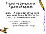 figurative language or figures of speech
