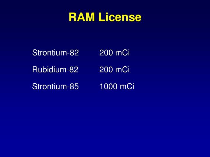 RAM License