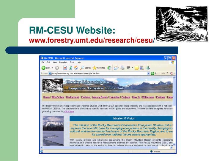 RM-CESU Website:
