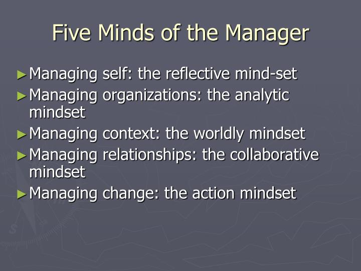 Five Minds of the Manager
