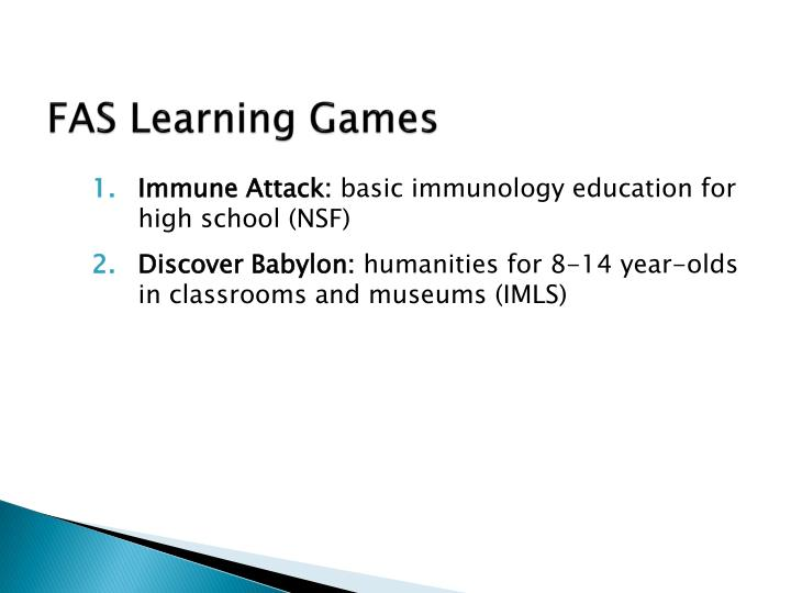 FAS Learning Games