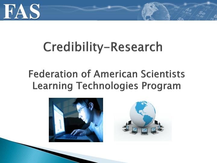 Federation of American Scientists Learning Technologies Program