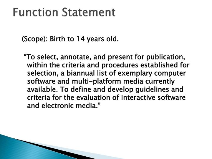 Function Statement