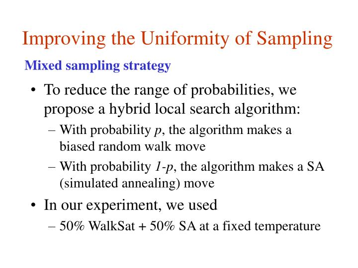 Improving the Uniformity of Sampling