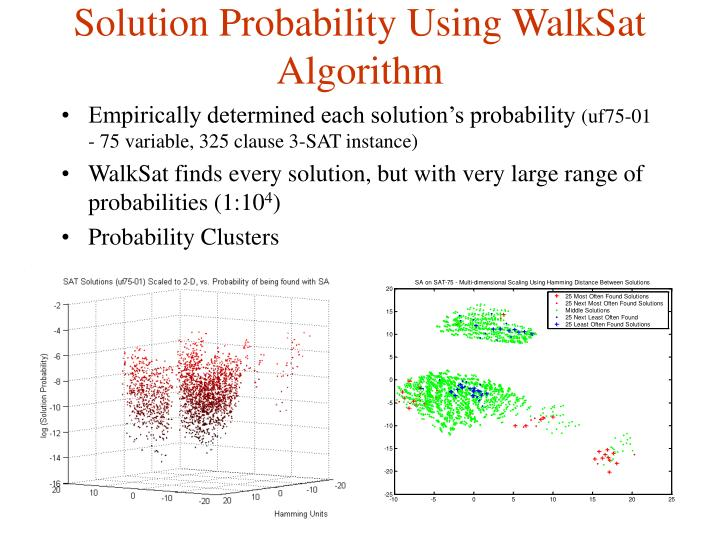Solution Probability Using WalkSat Algorithm