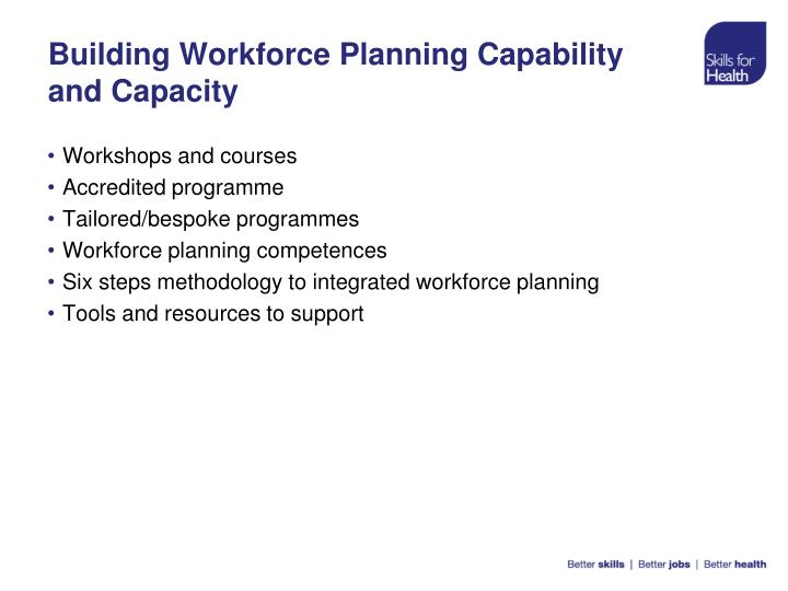 Building workforce planning capability and capacity