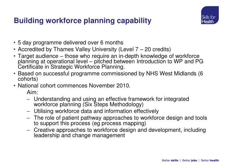 Building workforce planning capability