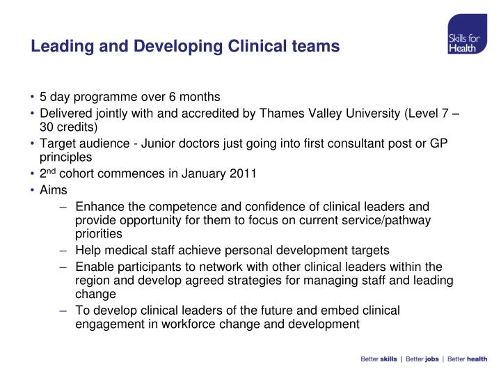 Leading and Developing Clinical teams