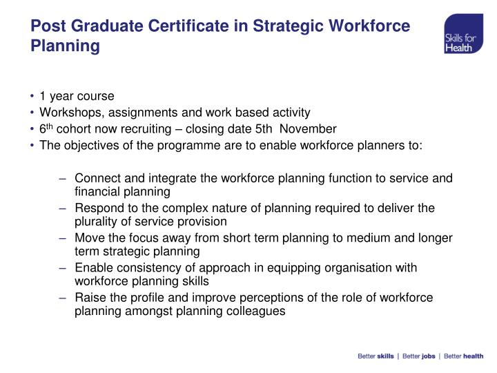 Post Graduate Certificate in Strategic Workforce Planning