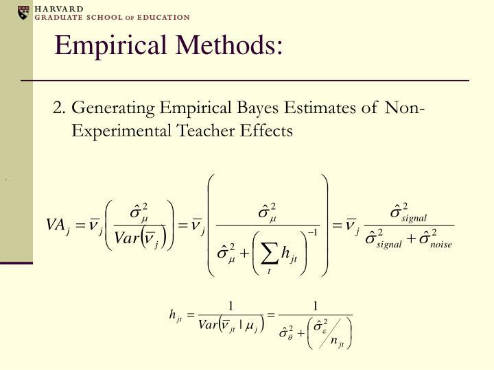 Empirical Methods: