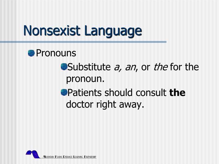 Nonsexist Language