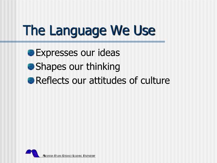 The Language We Use