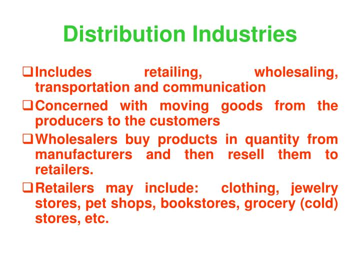 Distribution Industries
