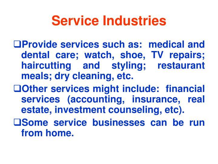 Service Industries