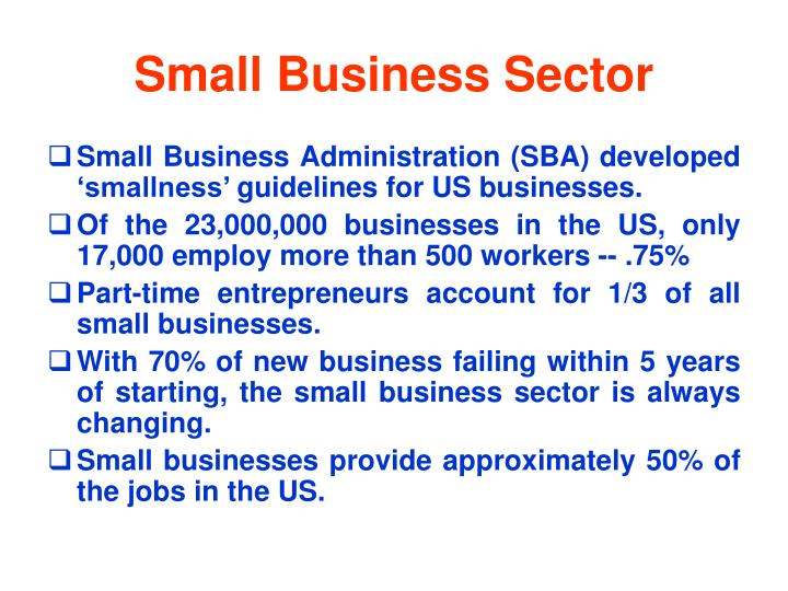 Small Business Sector