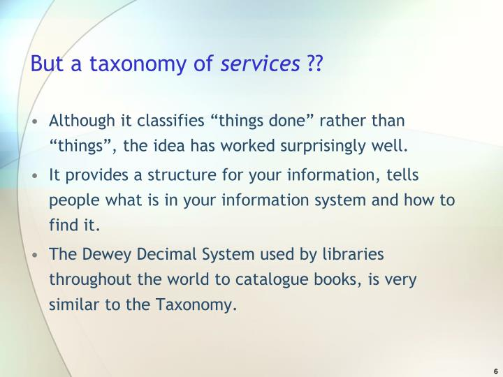 But a taxonomy of