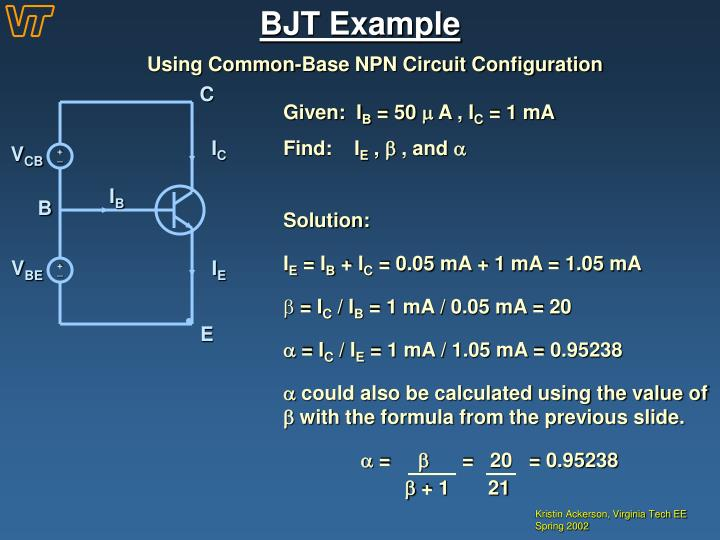 BJT Example