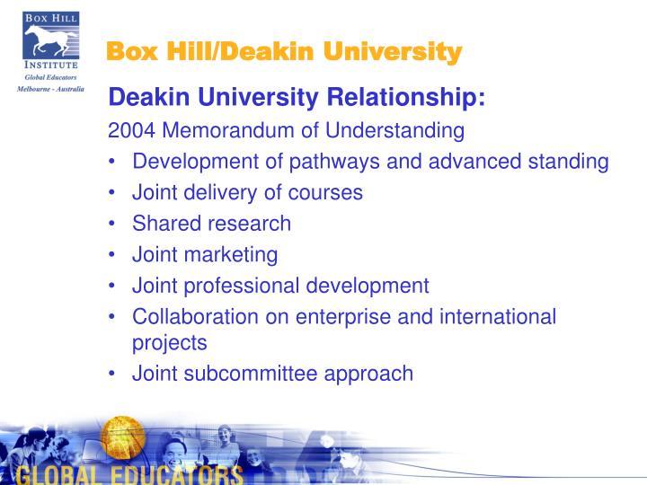 Box Hill/Deakin University