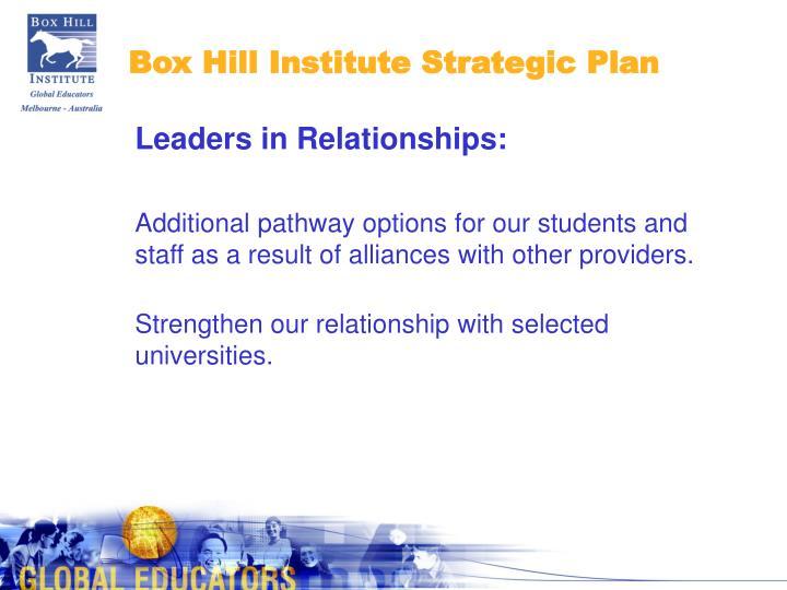 Box Hill Institute Strategic Plan