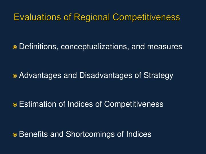 Evaluations of Regional Competitiveness