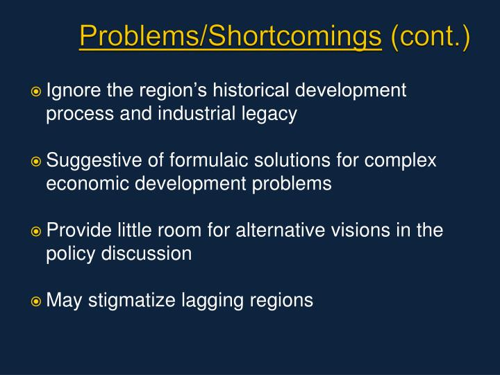 Problems/Shortcomings