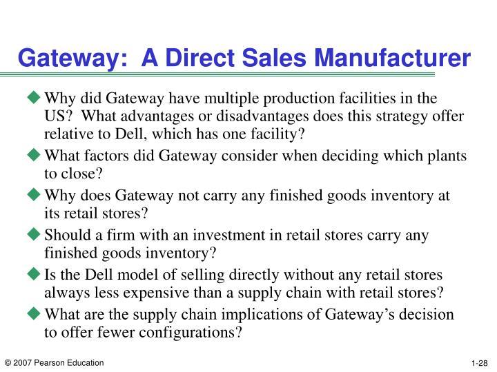 Gateway:  A Direct Sales Manufacturer
