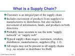 what is a supply chain2