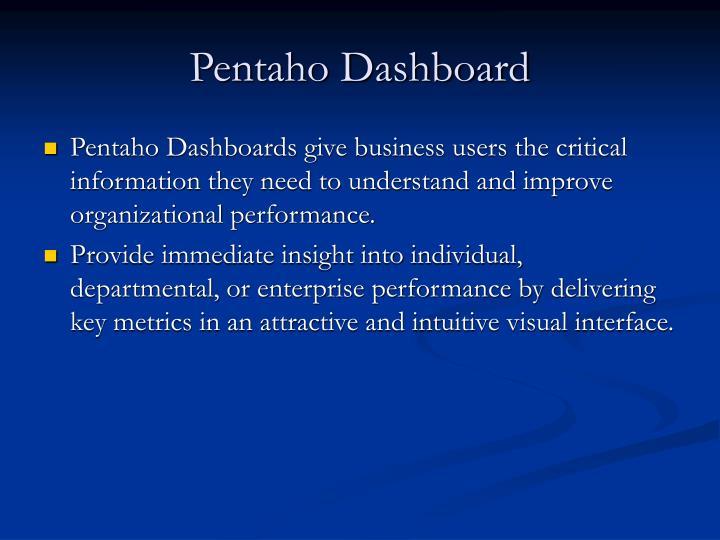 Pentaho Dashboard