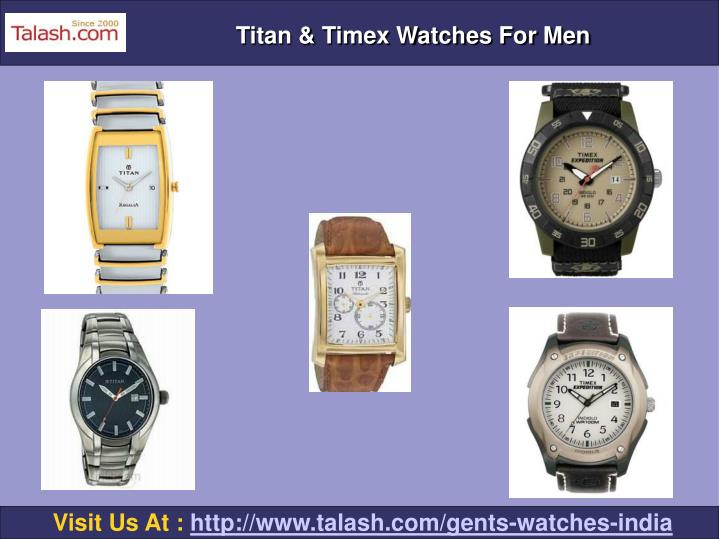 Titan & Timex Watches For Men